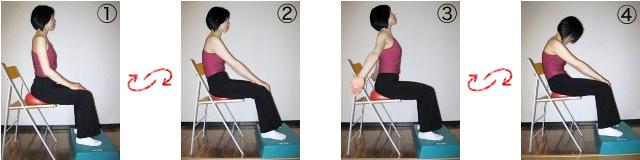 骨盤体操(前後)&脊柱体操