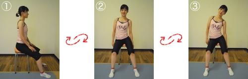 骨盤体操(左右)&脊柱体操