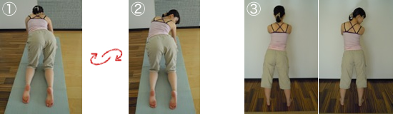 骨盤体操(左右傾斜)